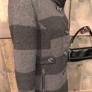 Jackets & Coats - Striped wool blend coat